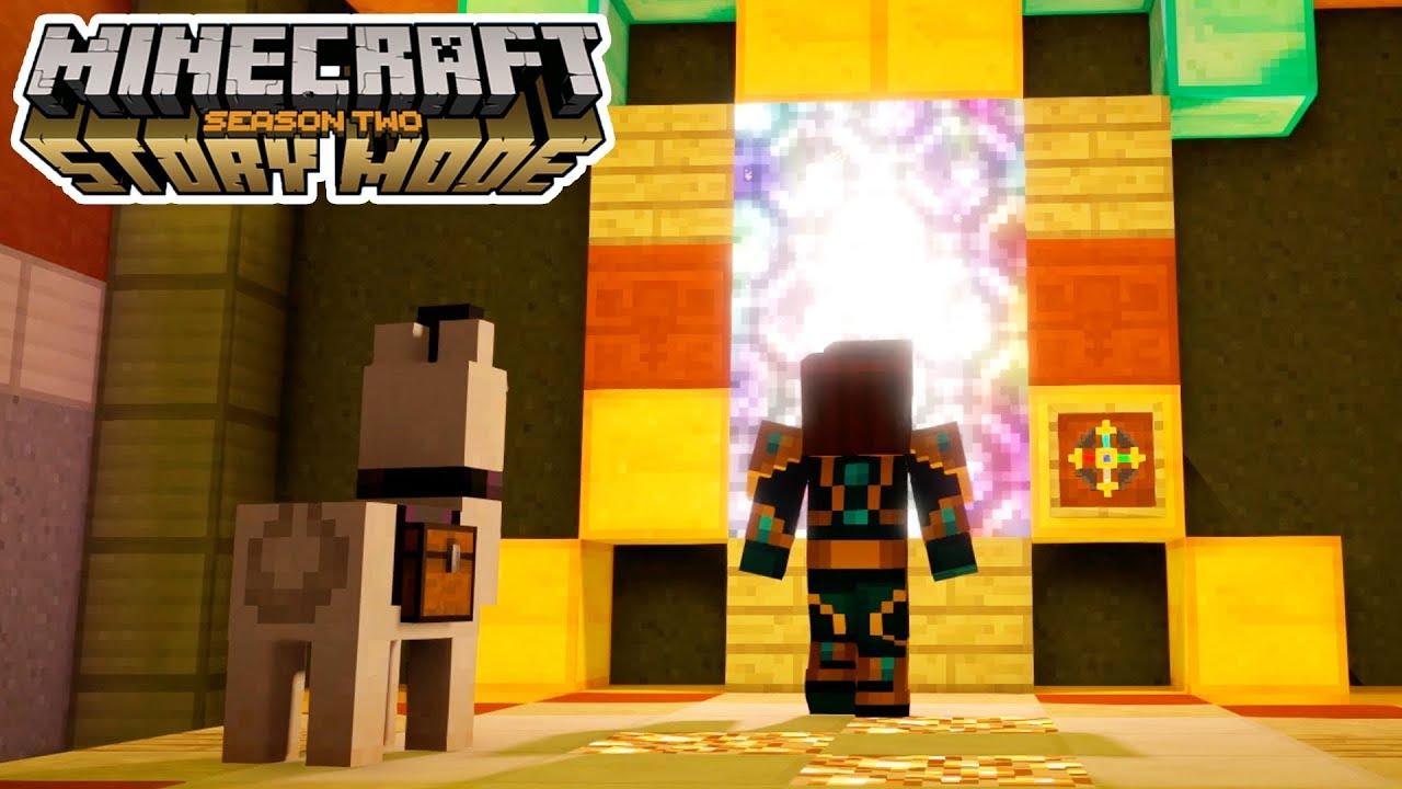 THE PORTAL HOME!!   Minecraft: Story Mode Season 2   Episode 4 [4]