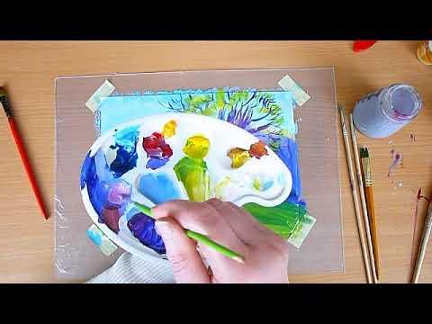 3 клас. Мистецтво. А вже весна, а вже красна. Малюємо весняний пейзаж гуашевими фарбами.