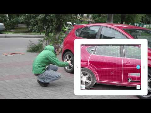 Augmented reality for precise car damage inspection