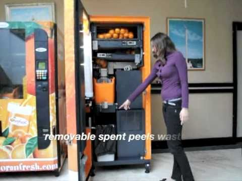orange juice vending machine oranfresh youtube. Black Bedroom Furniture Sets. Home Design Ideas