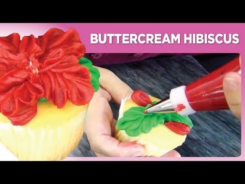 Buttercream Hibiscus by www.sweetwise.com