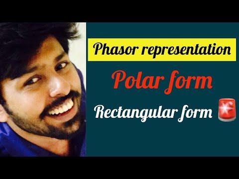 Phasor representation polar form , recatangular form exponential form : Basic Electrical videos