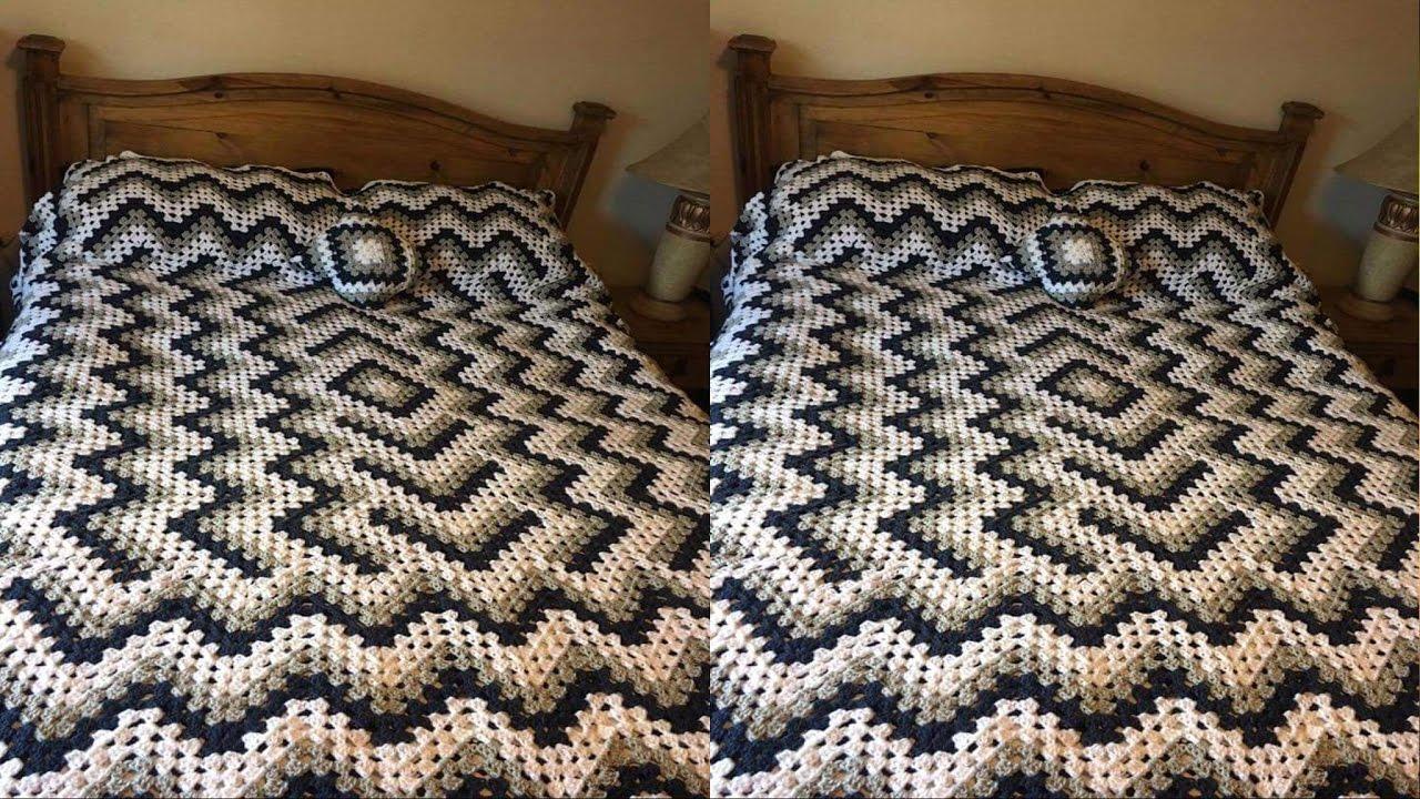 Colchas y cobertores para camas tejidas a crochet - Colchas tejidas a crochet ...