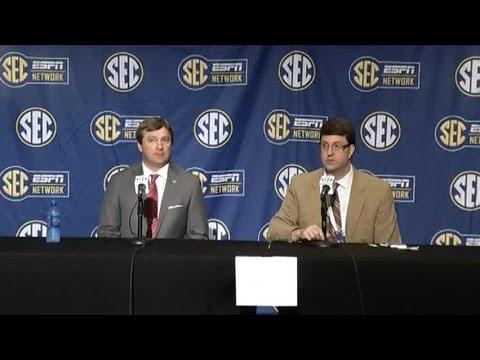 Kirby Smart speaks at SEC Media Days 2016