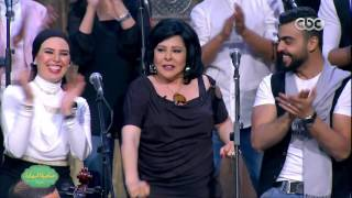 بالفيديو.. إسعاد يونس تفاجئ جمهورها بغناء تتر