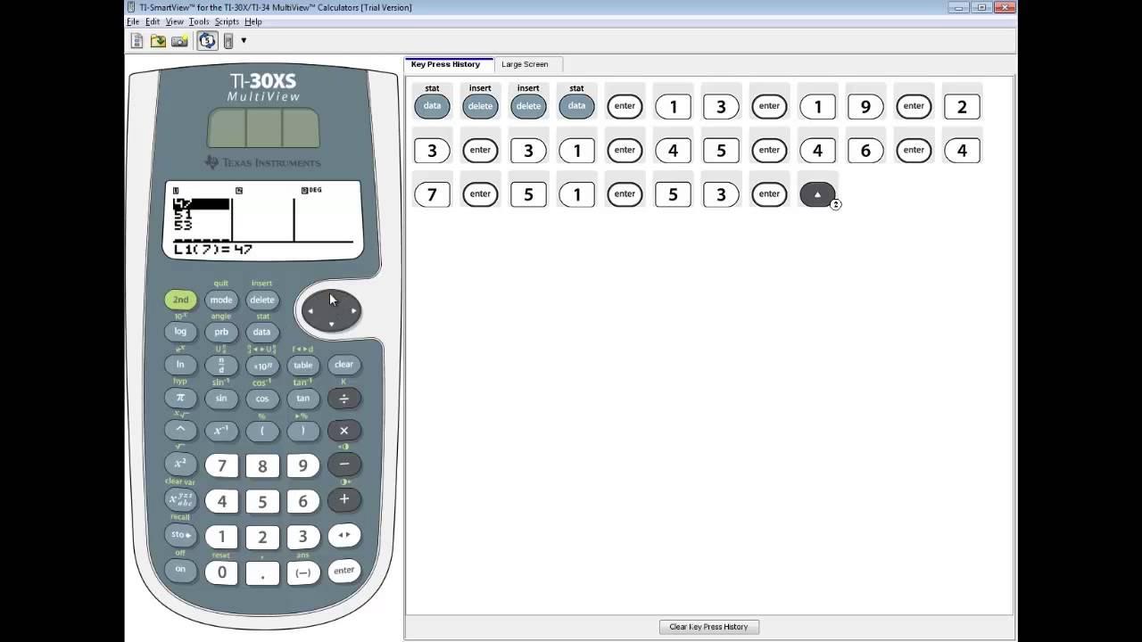 Ti 30xs multiview statistics sample standard deviation youtube biocorpaavc Images