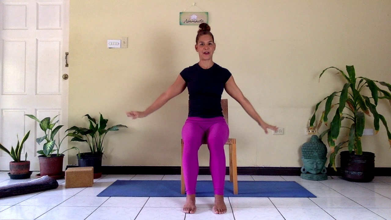 A Short Chair Yoga Practice for Tight Shoulders and Back
