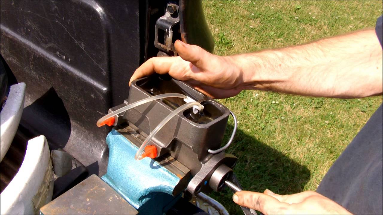 Brake Master Cylinder >> How to - Bench Bleed a Brake Master Cylinder - YouTube