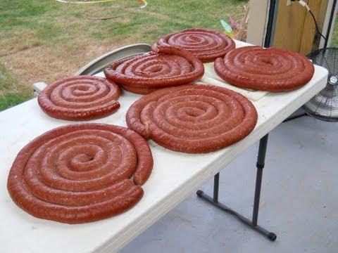 Making Venison Andouille Sausage