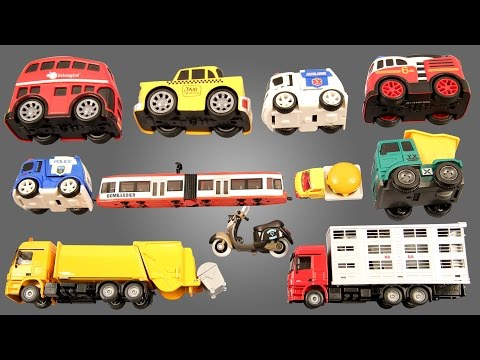 Learn Street Vehicles For Kids Children Toddlers Babies With London Bus Taxi Police Car Ambulance