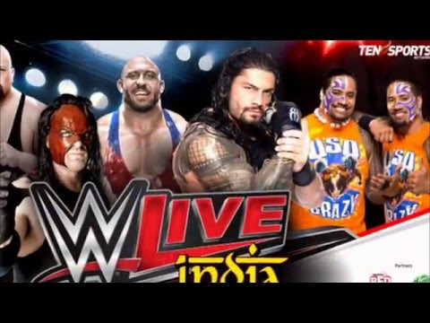 WWE Live India Ten Sports Live Telecast  15, 16 January 2016 Online
