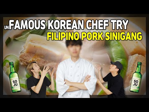 KOREAN CHEF React to Filipino Food | Pork Sinigang