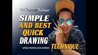 How To Make Speed Draw Any Figure I ONLINE PAINTING  SCHOOL - Episode 1  D2 Creator