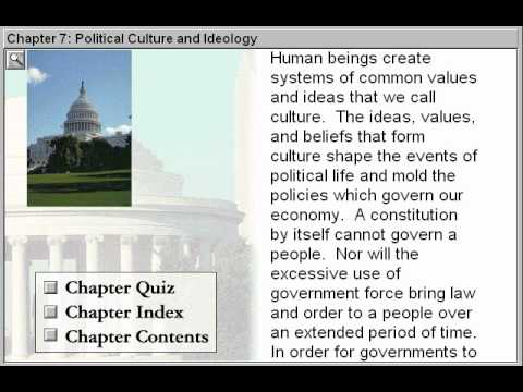 Political Culture and Ideology (Government By The People Part 7)