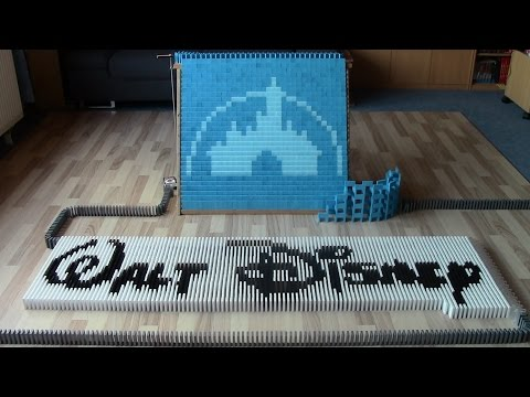 Walt Disney in 30,000 dominoes (collab with The Ocelot King)