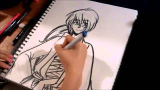 Speed Drawing: Kenshin Himura [Rurouni Kenshin]