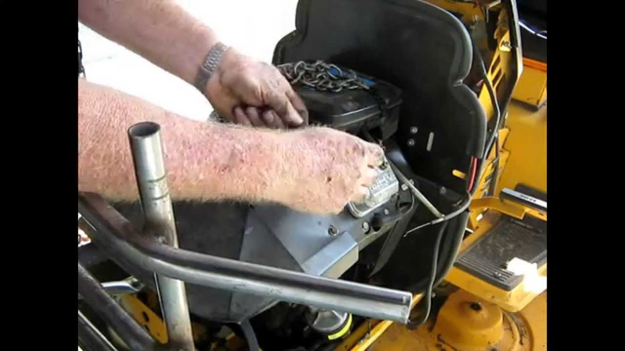 Cub Cadet Ignition diode install preparation