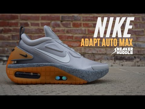 FUTURISTIC SELF LACING SNEAKERS!!! Nike Adapt Auto Max 'Motherboard' | Tech Review | Sneaker Huddle