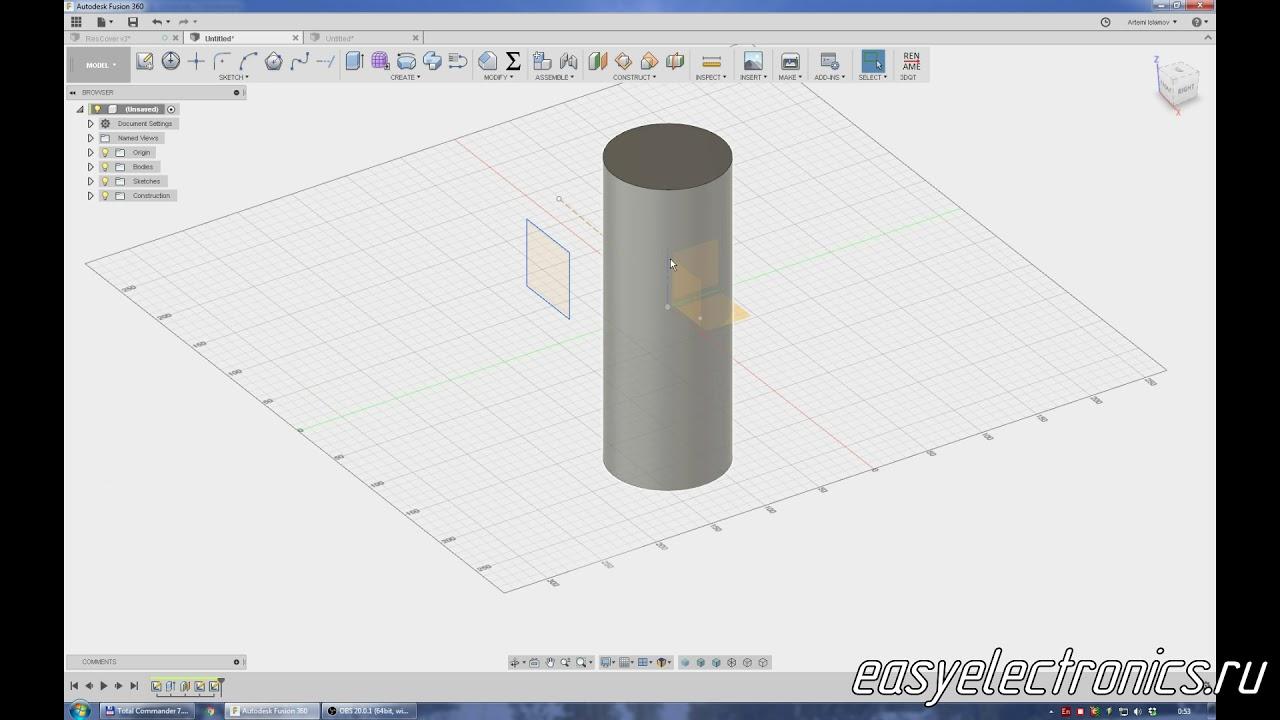 Autodesk Fusion 360  Project  Проецирование эскизов  3D эскизы