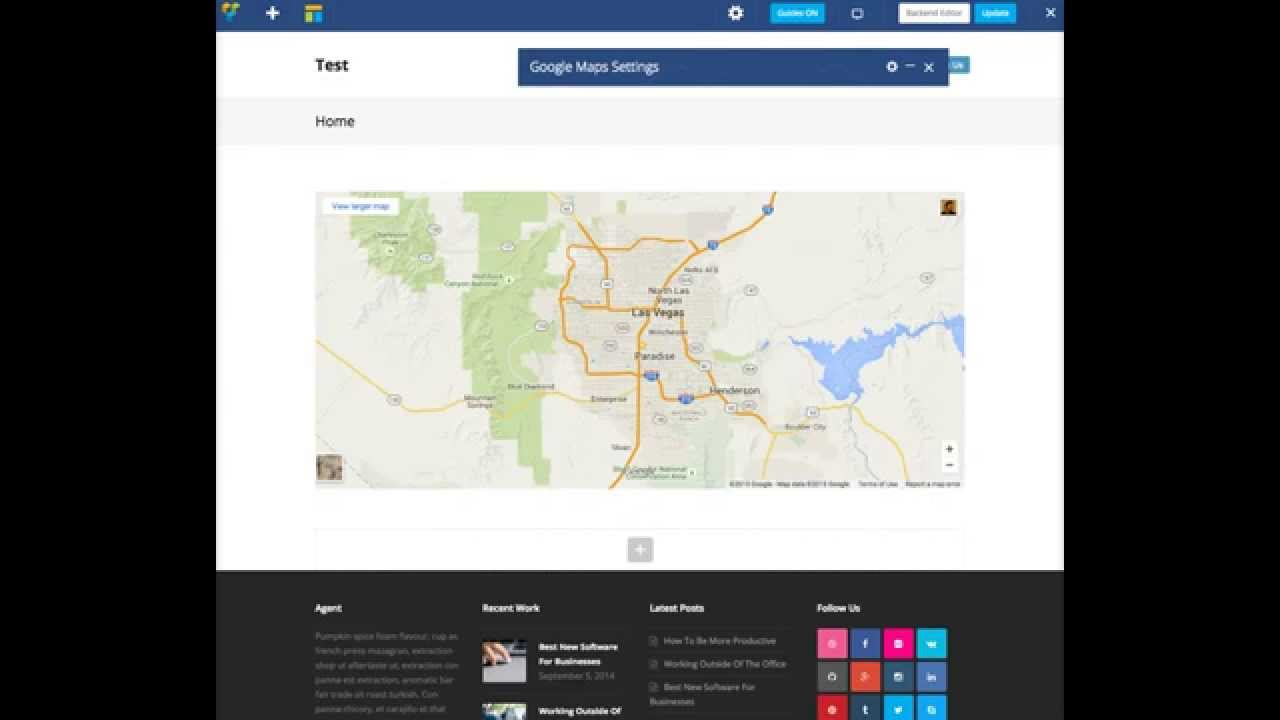 Adding Google Maps - Total WordPress Theme