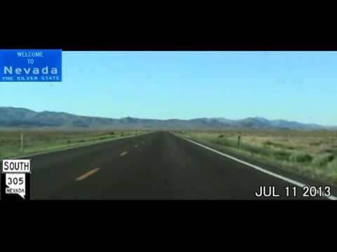 Portland OR to Las Vegas NV Time Lapse Drive