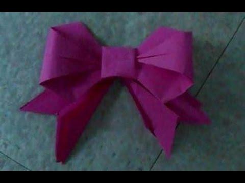 Tuto origami n ud papillon youtube - Comment faire un papier cadeau ...