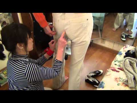 SEWING BY LOAN SF HOW TO TAKE IN CROTCH LINE PANTS  PART 1