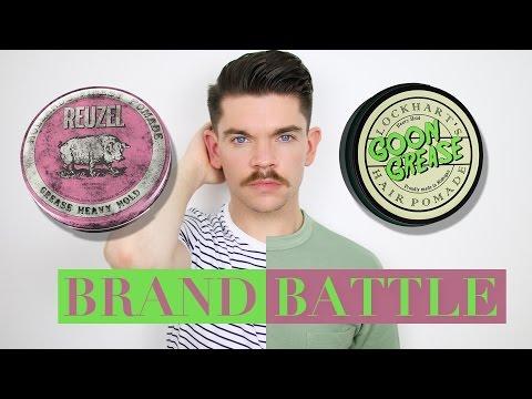 Reuzel Pink Pomade vs. Lockhart's Goon Grease Pomade | Brand Battle