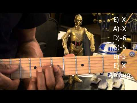 Guitar Chord Form Tutorial #208 70's Blue Swede Style Chord Shapes EricBlackmonMusicHD