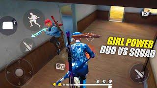 Girl Power - Legendary Duo vs Squad OP Headshot Gameplay With Karan   Garena Free Fire - P.K. GAMERS cмотреть видео онлайн бесплатно в высоком качестве - HDVIDEO