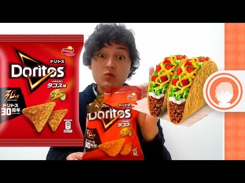 Doritos sabor tacos mexicanos - Dulces japoneses - Sinueton