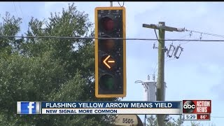 More flashing yellow arrow lights being installed in Hillsborough County