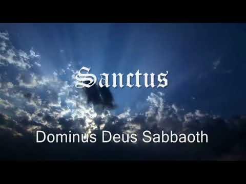 Canto gregoriano - Sanctus ( In latin with lyrics )