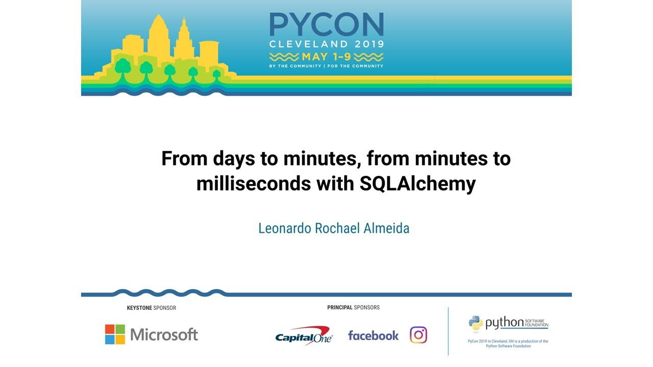 Image from From days to minutes, from minutes to milliseconds with SQLAlchemy
