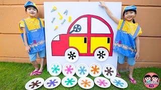 หนูยิ้มหนูแย้ม   เปลี่ยนล้อรถกระดาษ Kids Activities