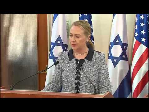 Clinton And Netanyahu Joint Statement On Gaza Solution [Raw Video]