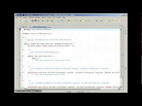 Create Simple Java Servlet In Eclipse