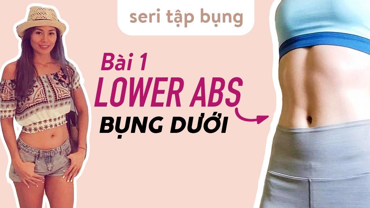 Seri TẬP BỤNG - Bài 1 tập BỤNG DƯỚI - LOWER ABS ♡ Yoga By Sophie