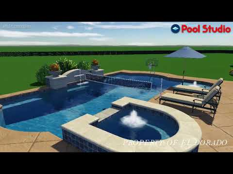 El Dorado 3D Swimming Pool Design - #1 Combination