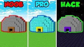 Minecraft NOOB vs. PRO vs. HACKER: SECRET BUNKER in Minecraft! (Animation)