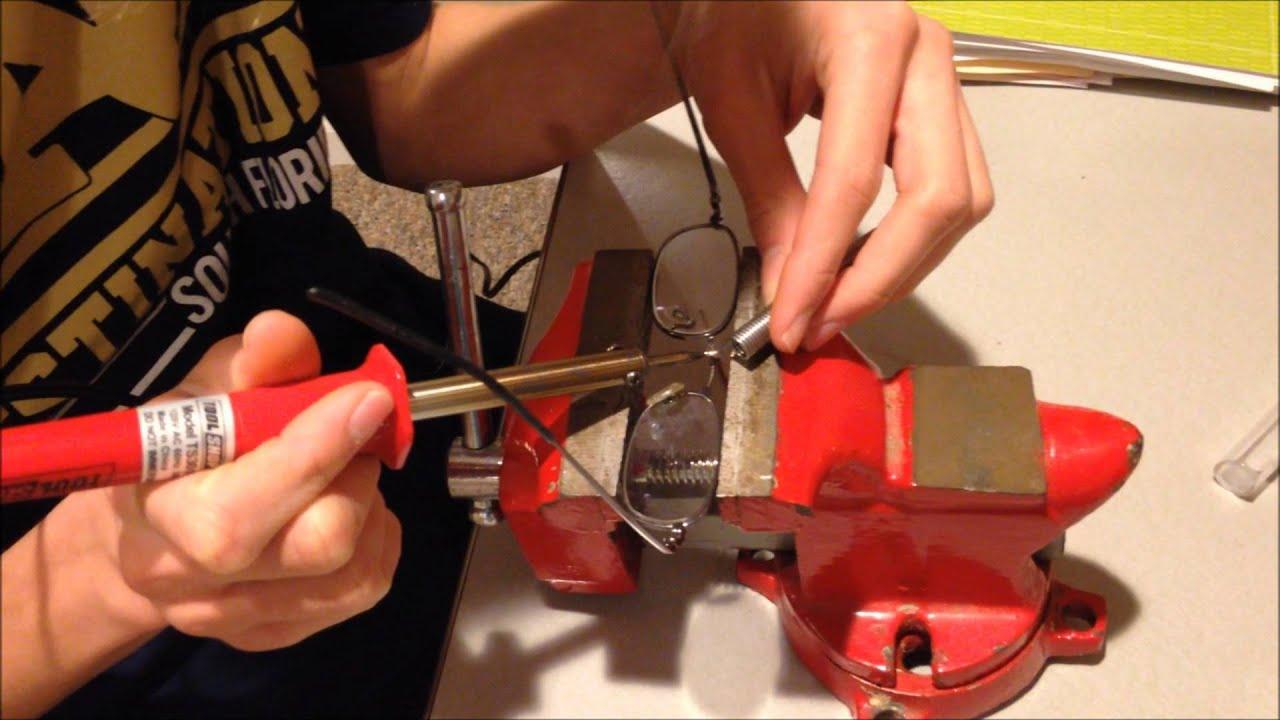 hemingrays workshop how to fix glasses that have broken in half youtube