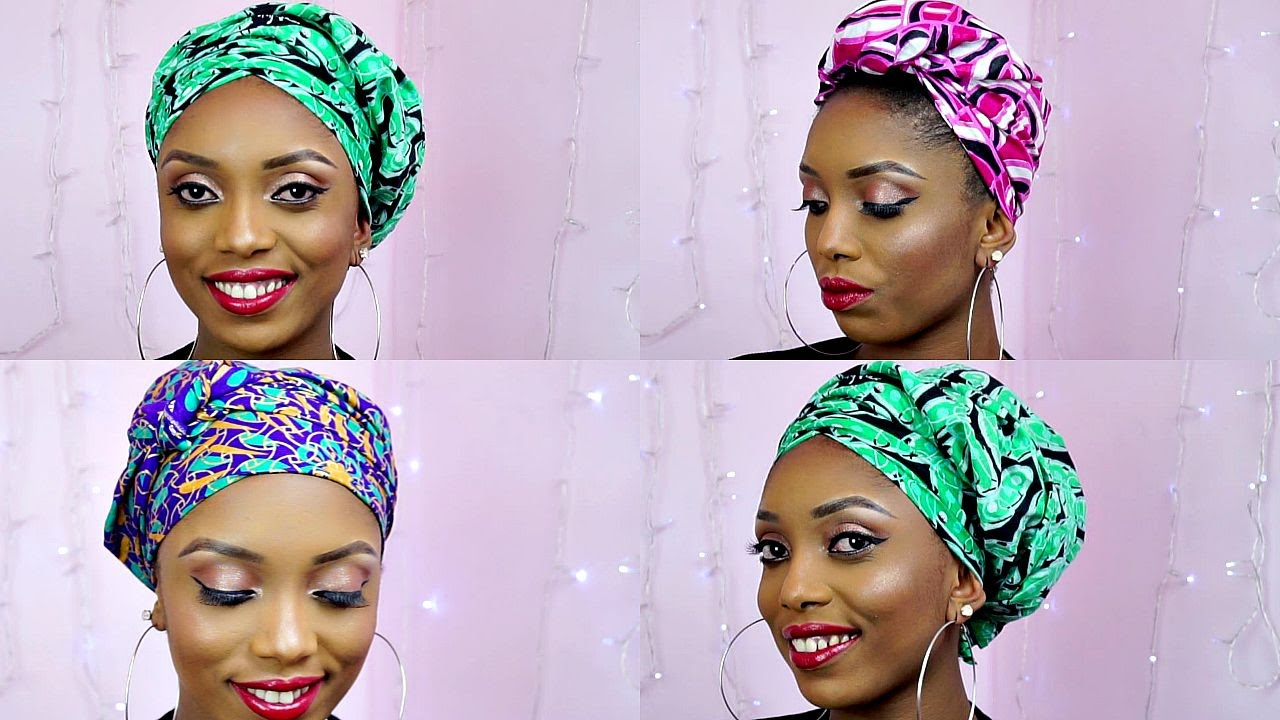 How To Tie African Ankara Head Wrap Scarf Three Unique Styles Youtube