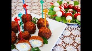 Закуски на праздничный стол Яйца по ШОТЛАНДСКИ и МУХОМОРЫ холодные закуски на стол Вкусные закуски