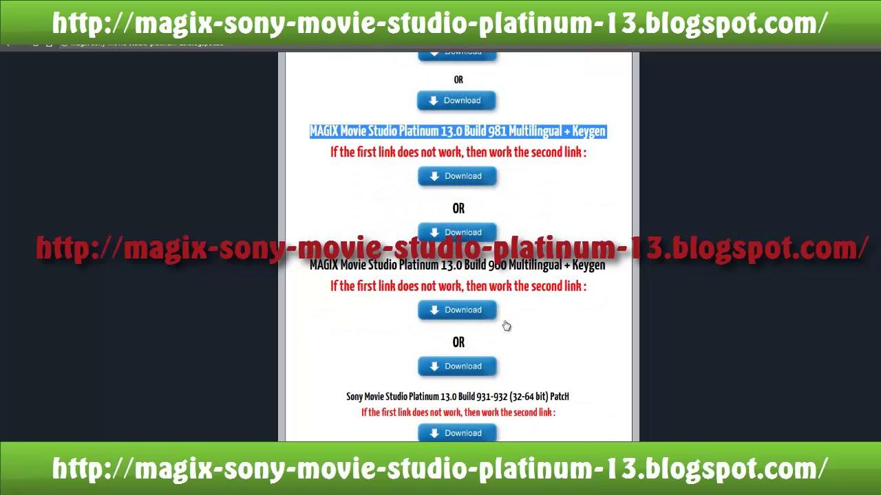 keygen para movie studio platinum 13.0