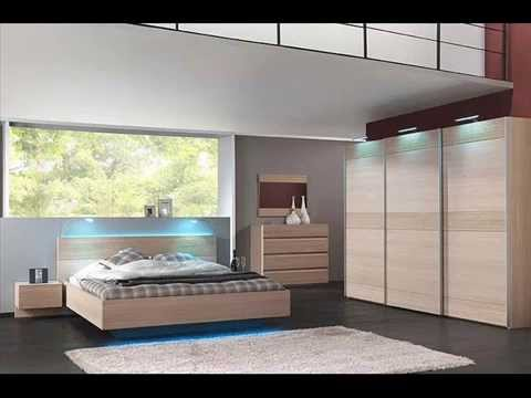 Modern bedroom design chambre coucher moderne youtube for Model chambre a coucher