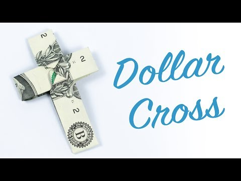Dollar Origami Cross ✝️ Money Origami CROSS Making Tutorial