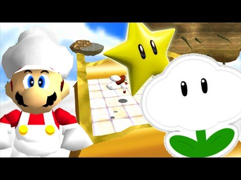 """SM64: Last Impact - Above the Clouds in 15""""33 [TAS] (Cloud Powerup!)"""