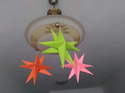 DIY Paper Crafts - How to Make Paper Stars for Home Decor + Tutorial !