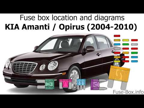 [SCHEMATICS_43NM]  Fuse box location and diagrams: KIA Amanti (2004-2010) - YouTube | 2004 Kia Amanti Fuse Diagram |  | YouTube