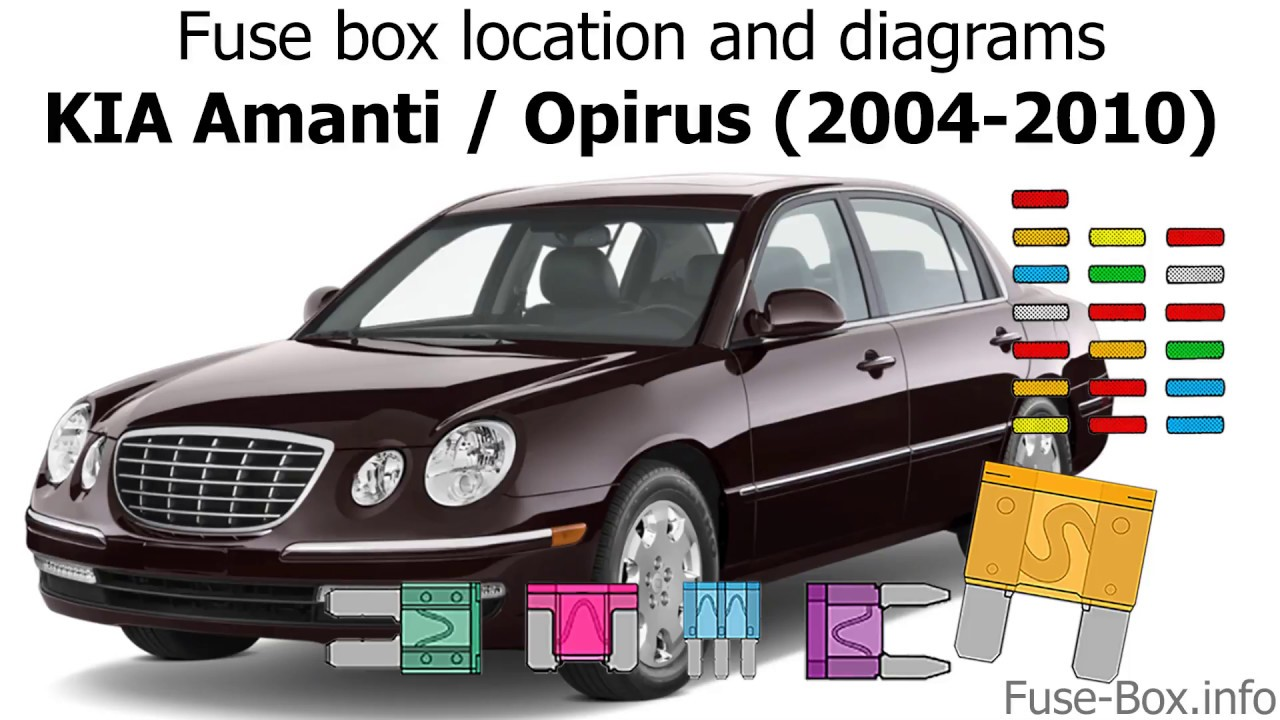 fuse box location and diagrams kia amanti 2004 2010  [ 1280 x 720 Pixel ]